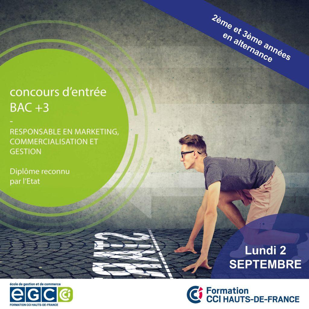 Concours d'entre école de commerce Lille 2 septembre