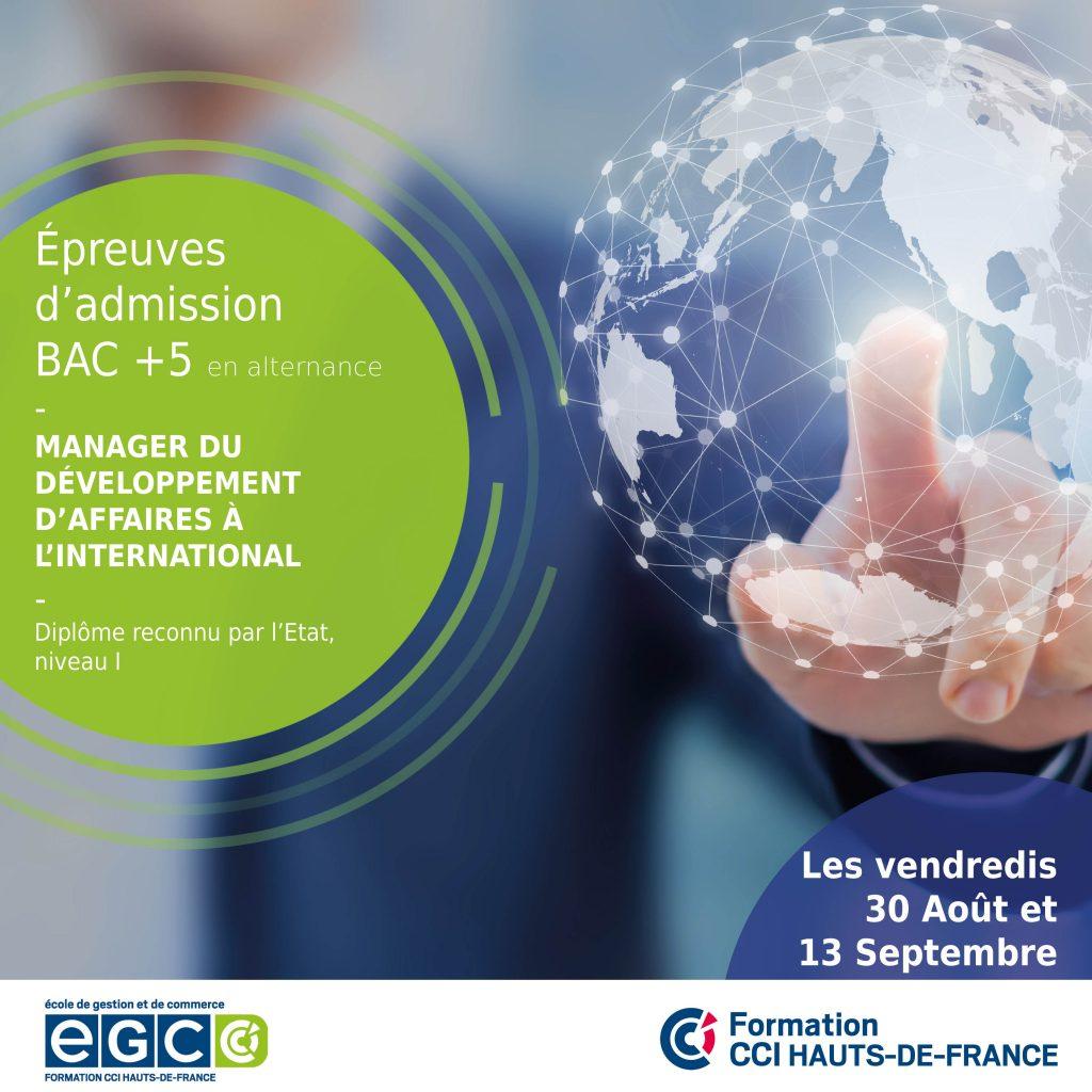 concours Bac+5 Manager du développement d'affaire à l'international
