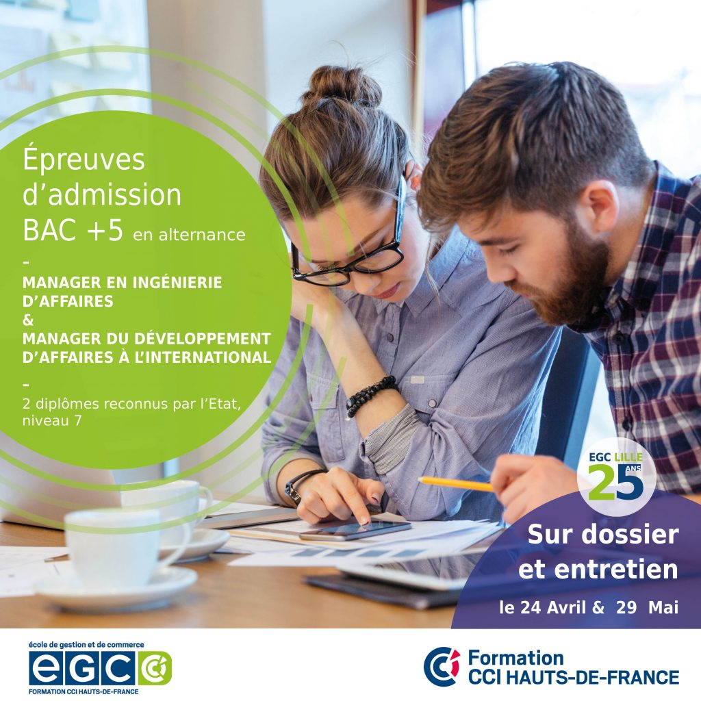 Admission cycle bac+5 commerce