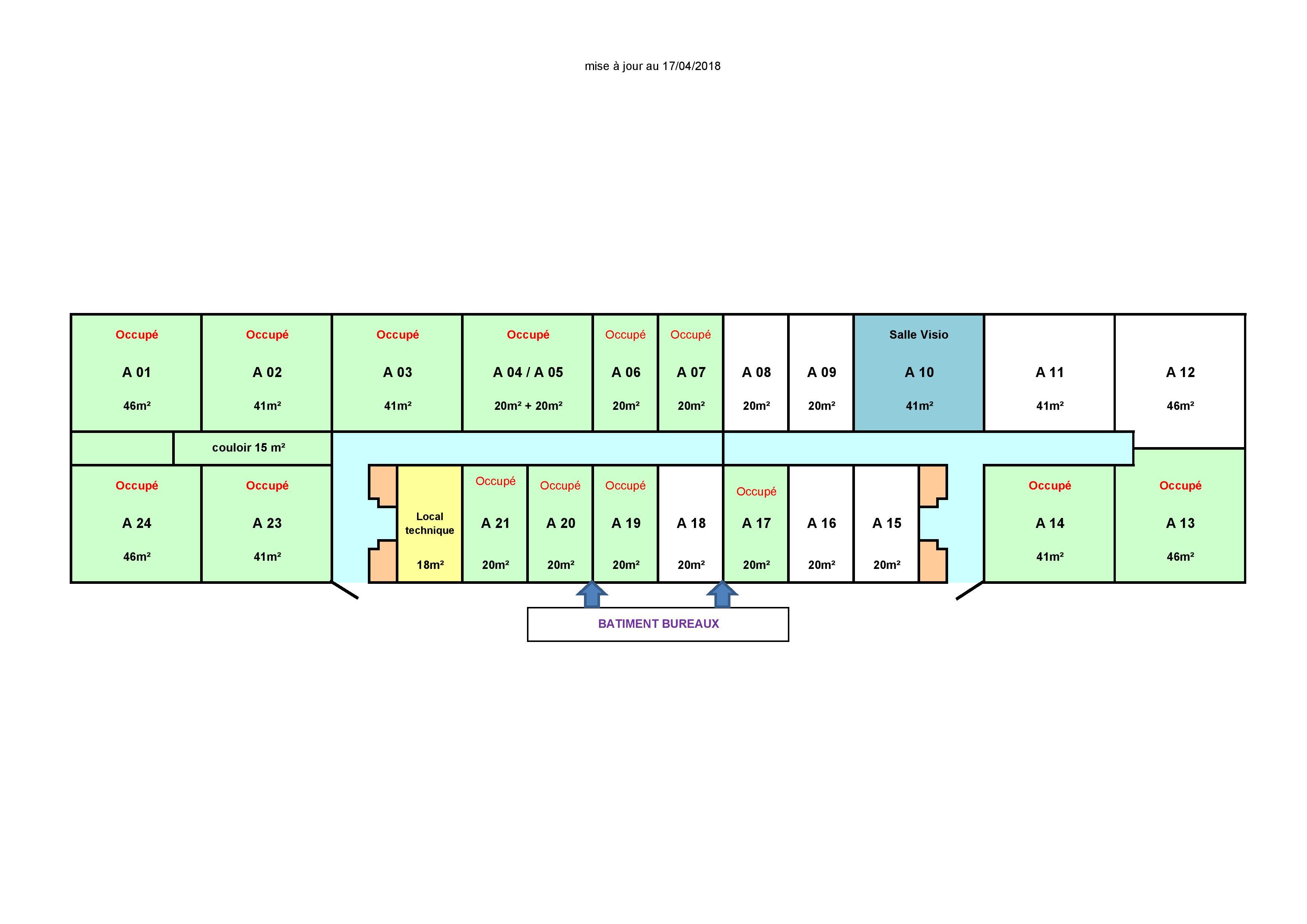 Plan bureaux pépinière EnR 10/2018