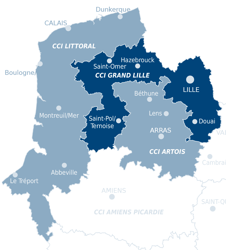 carte CCI Grand Lille