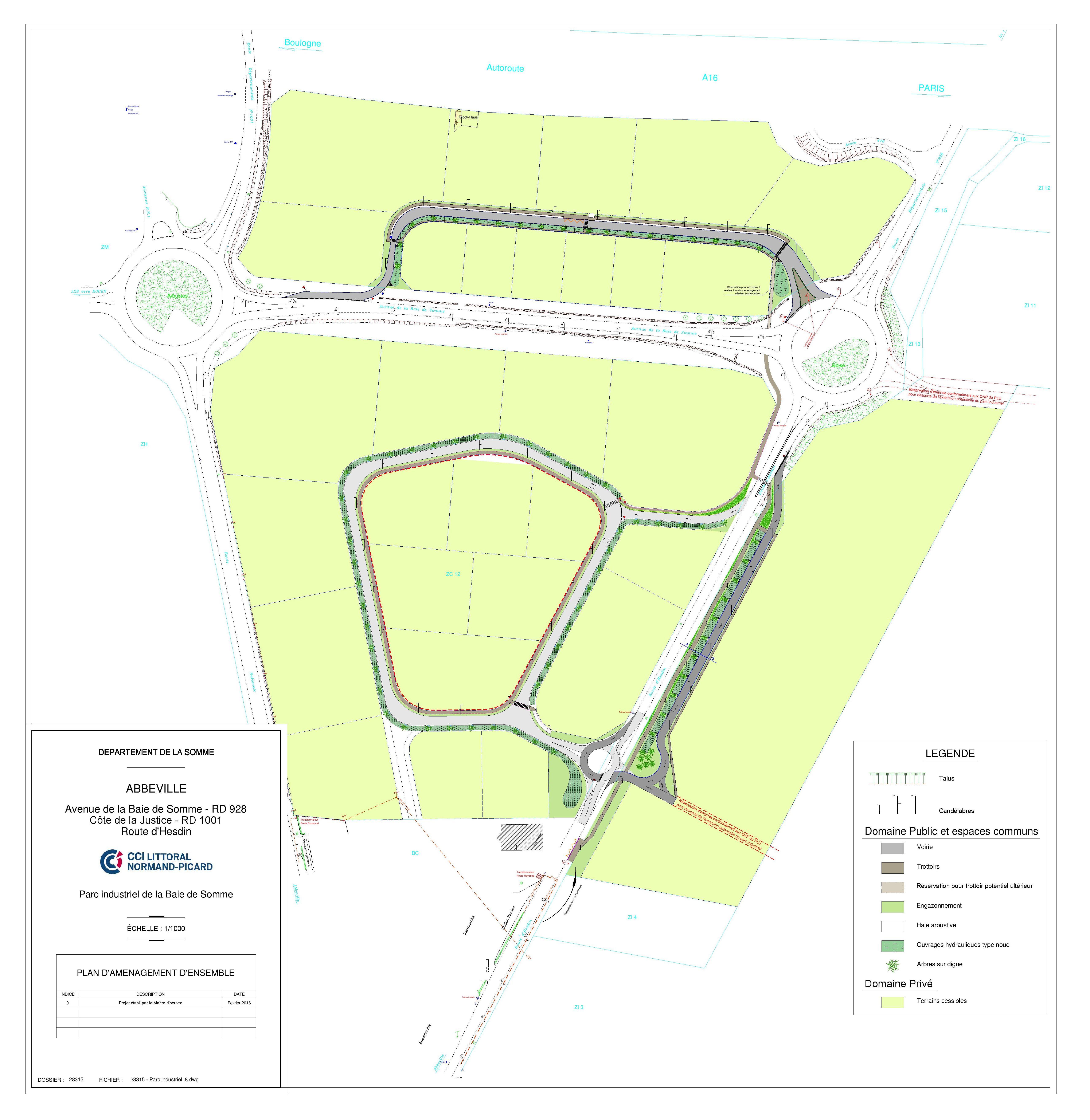 Plan du parc industriel Baie de Somme - ABBEVILLE