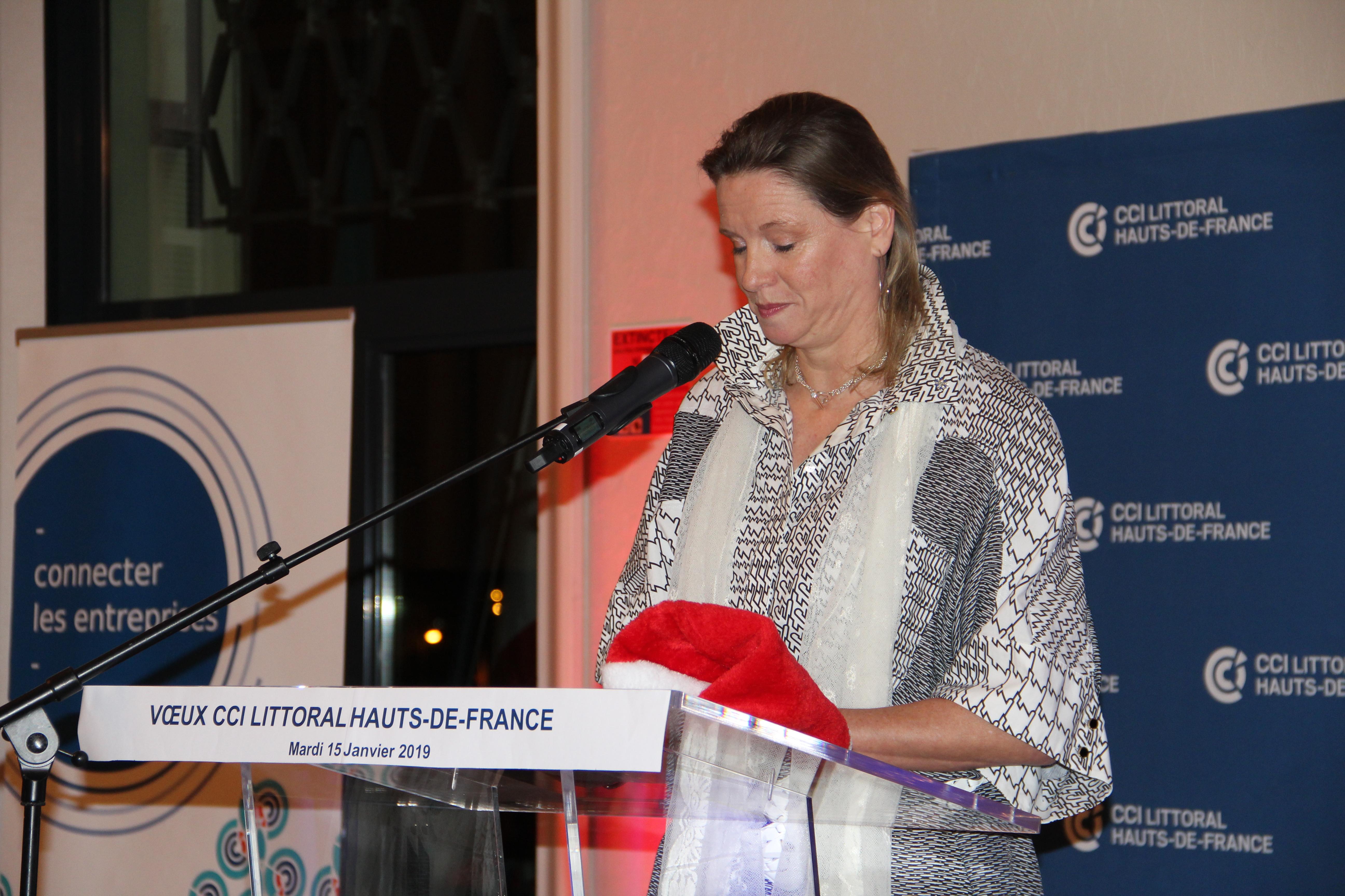 Claire Van Ryssel, vice-présidente CCI Littoral pour le Calaisis