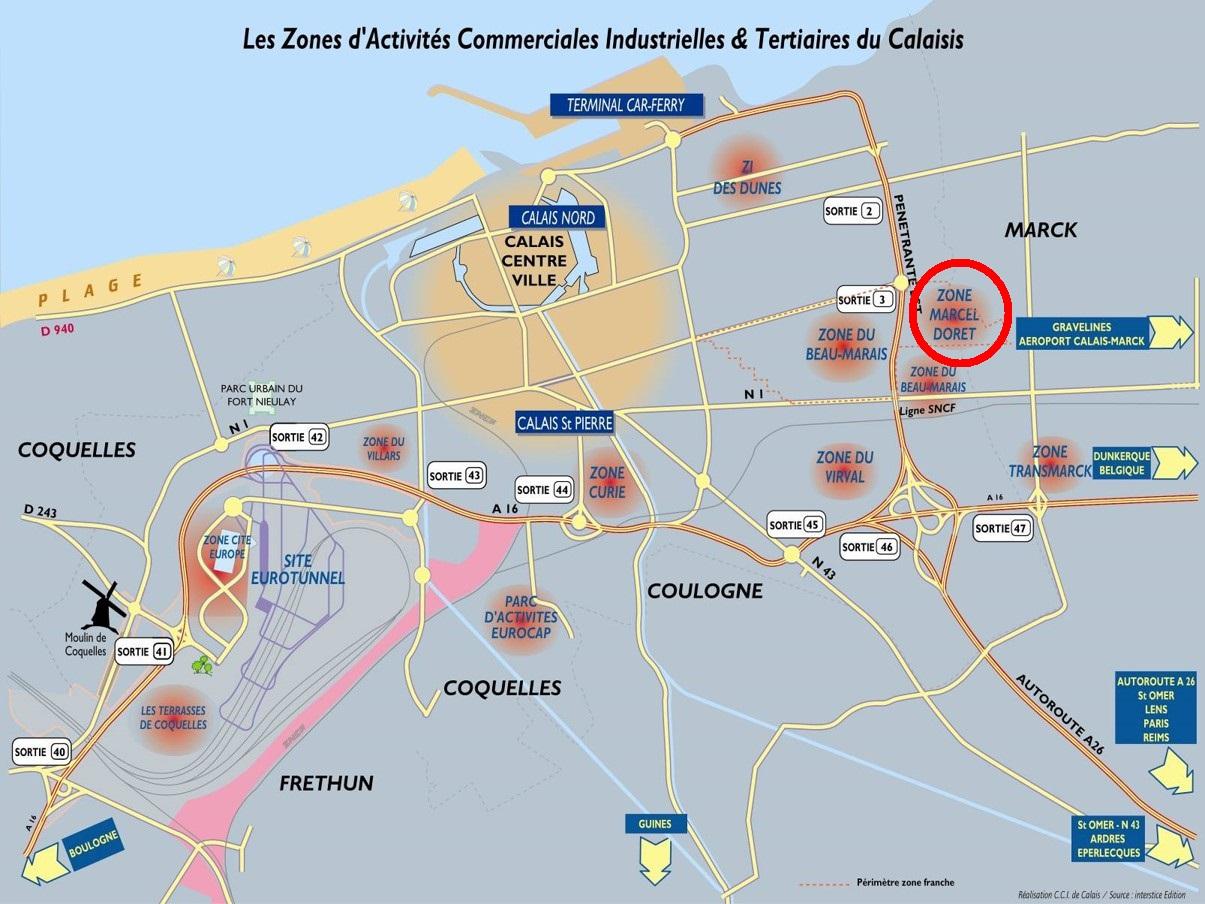 Doret 1_Calais situation géographique